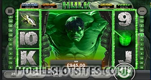The Incredible Hulk mobile slot