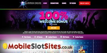 glimmer casino lobby