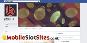 betspins facebook page
