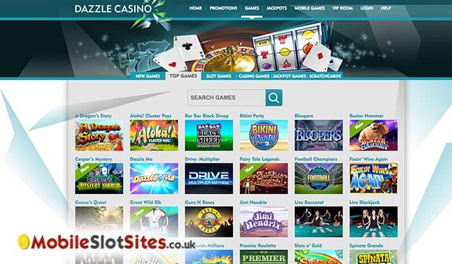 dazzle casino slots