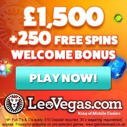 leo vegas250 free spins