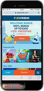 play frank mobile casino