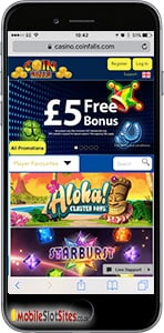 coinfalls mobile slots