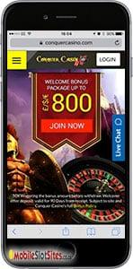 conquer mobile casino