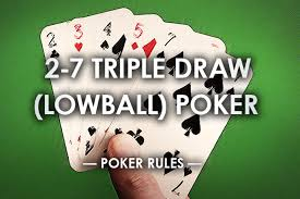 2-7 Triple Draw Poker