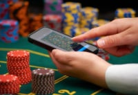 Casino Table With Smartphone Welcome Bonus
