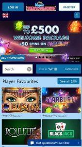 Vegas Baby Casino Lobby