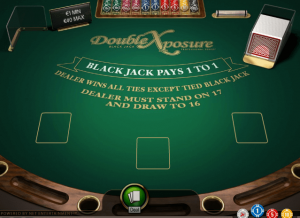 Double Exposure Blackjack Gameplay