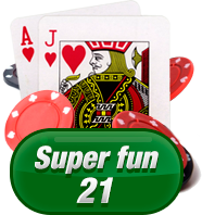 blackjack super fun 21 logo