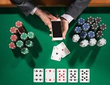 Casino Table With Mobile Phone