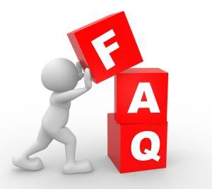 Man With FAQ Blocks