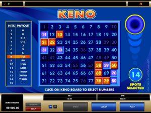 Keno Gameplay