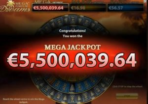 mega fortune jackpot win
