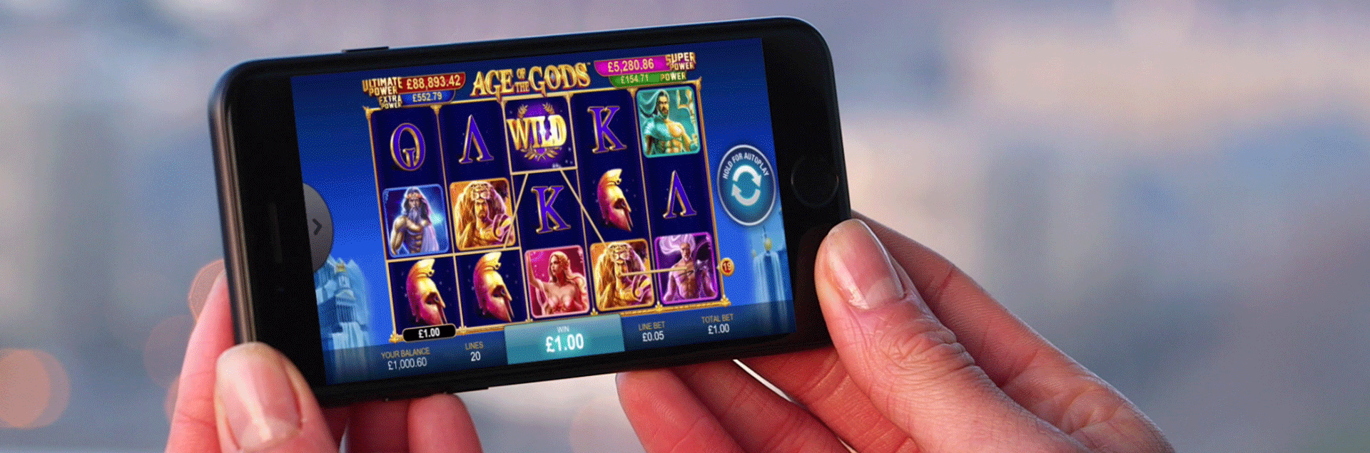 mobile casino - age of the gods