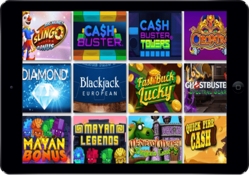 Love Reels Casino Games Lobby On iPad