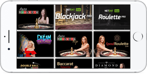 Love Reels Casino Games Lobby On iPhone