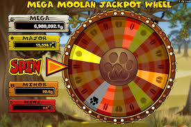 Mega Moolah Jackpot Wheel Screenshot