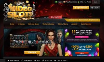 videoslots homepage