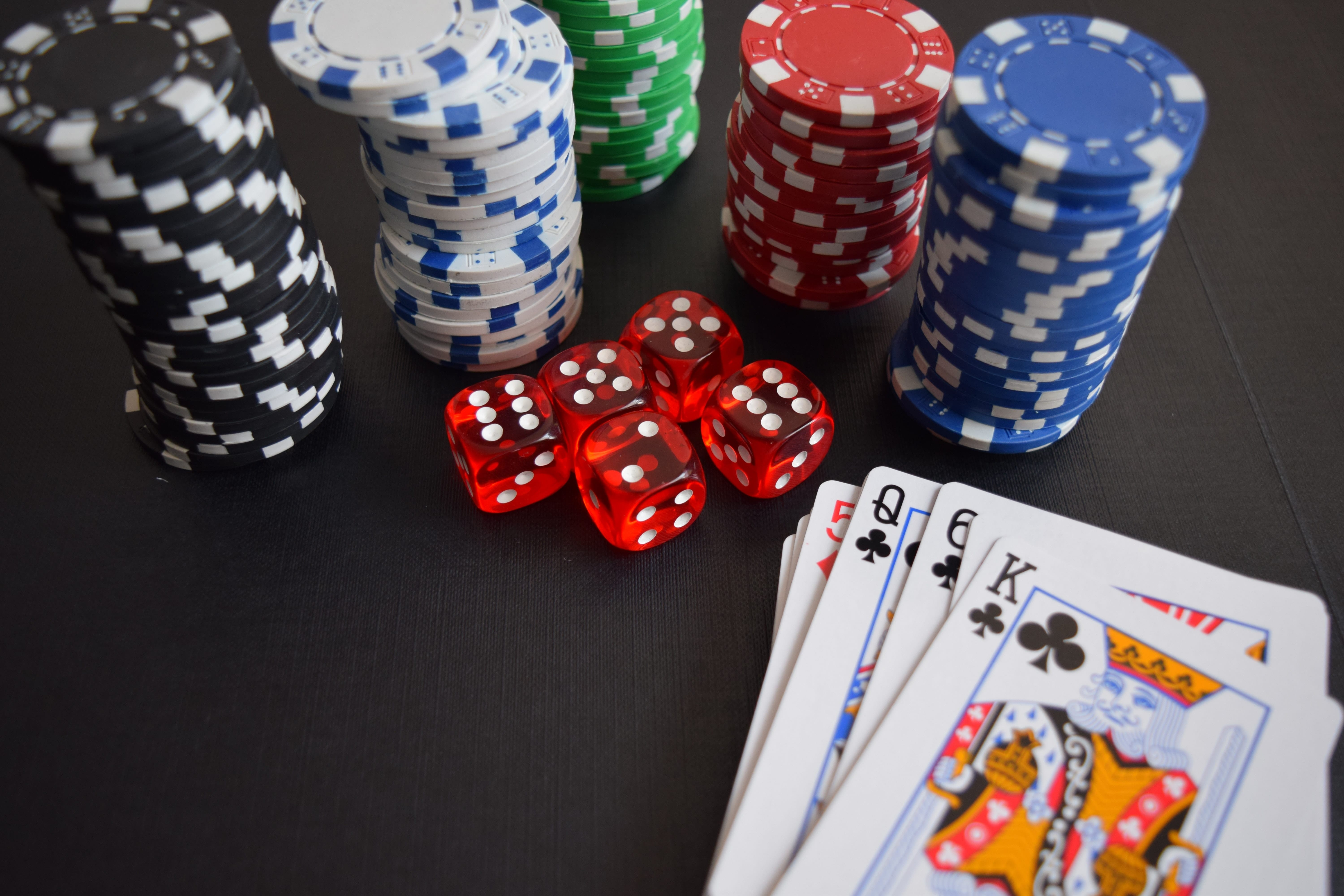 Playing Cards, Casino Chips & Dice