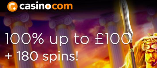 Casino.com Welcome Bonus Banner