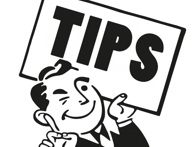 Animation Of Man Holding Sign Saying Tips