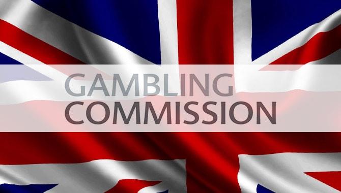 Gambling Commission Logo With Union Jack Background