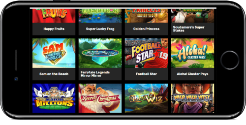 iPhone Hyper Casino Video Slots Lobby