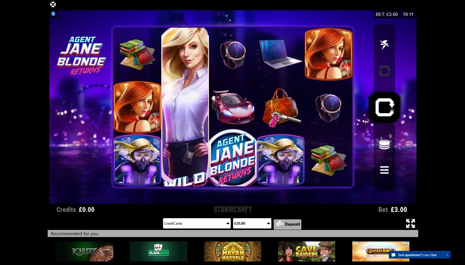 jane blonde returns slot on black spins casino