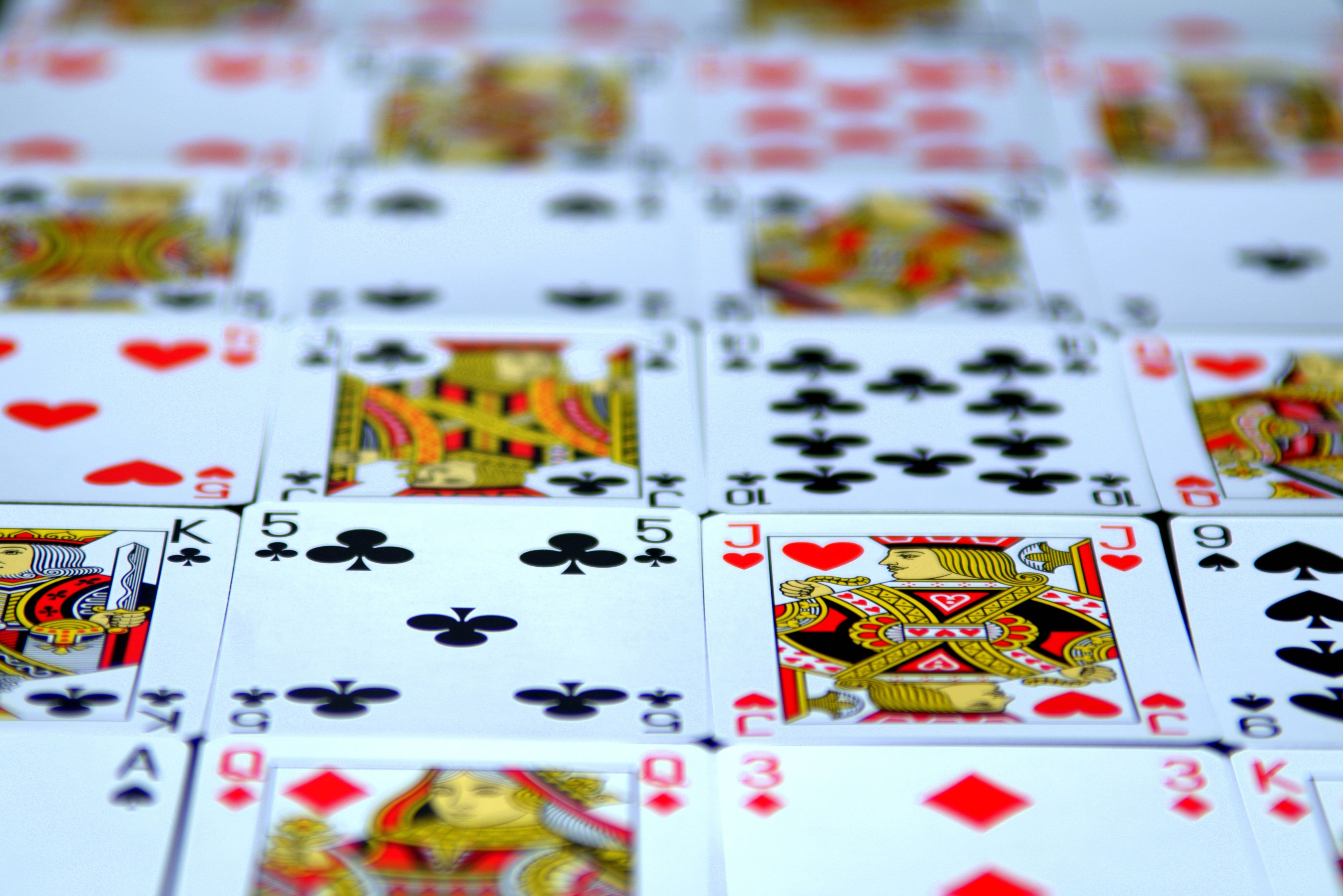 Set Of Casino Cards