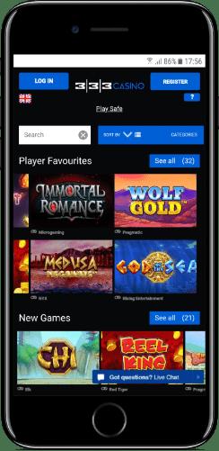 333 mobile casino slots