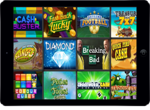 Chelsea Palace Casino Instant Win Games Lobby On Tablet