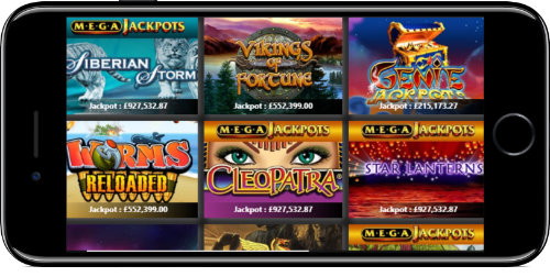 Chelsea Palace Casino Jackpot Games Lobby On iPhone