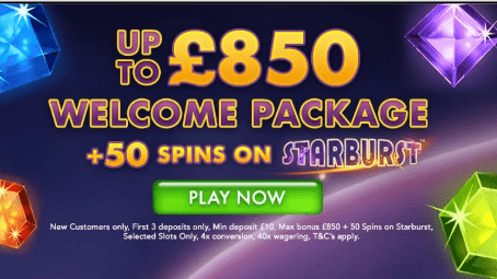 Chelsea Palace Casino Welcome Bonus Package Advert