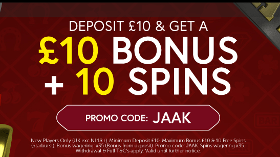 Jaak Casino Welcome Bonus