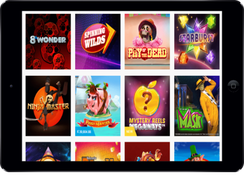 Lucky Me Slots Casino Slots Lobby On Tablet