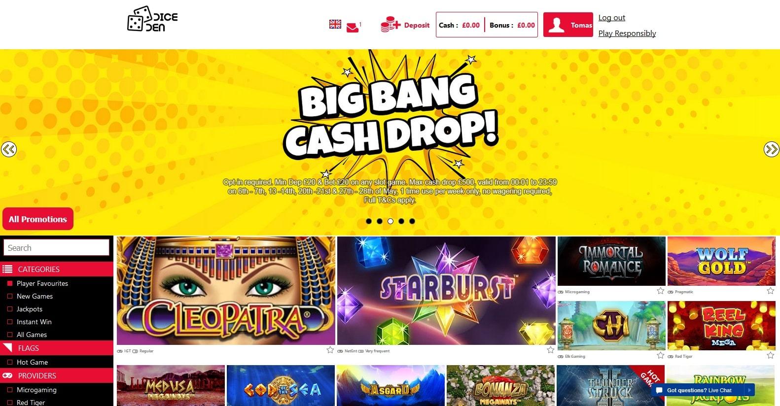 diceden casino lobby