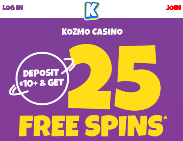Kozmo Casino Welcome Bonus