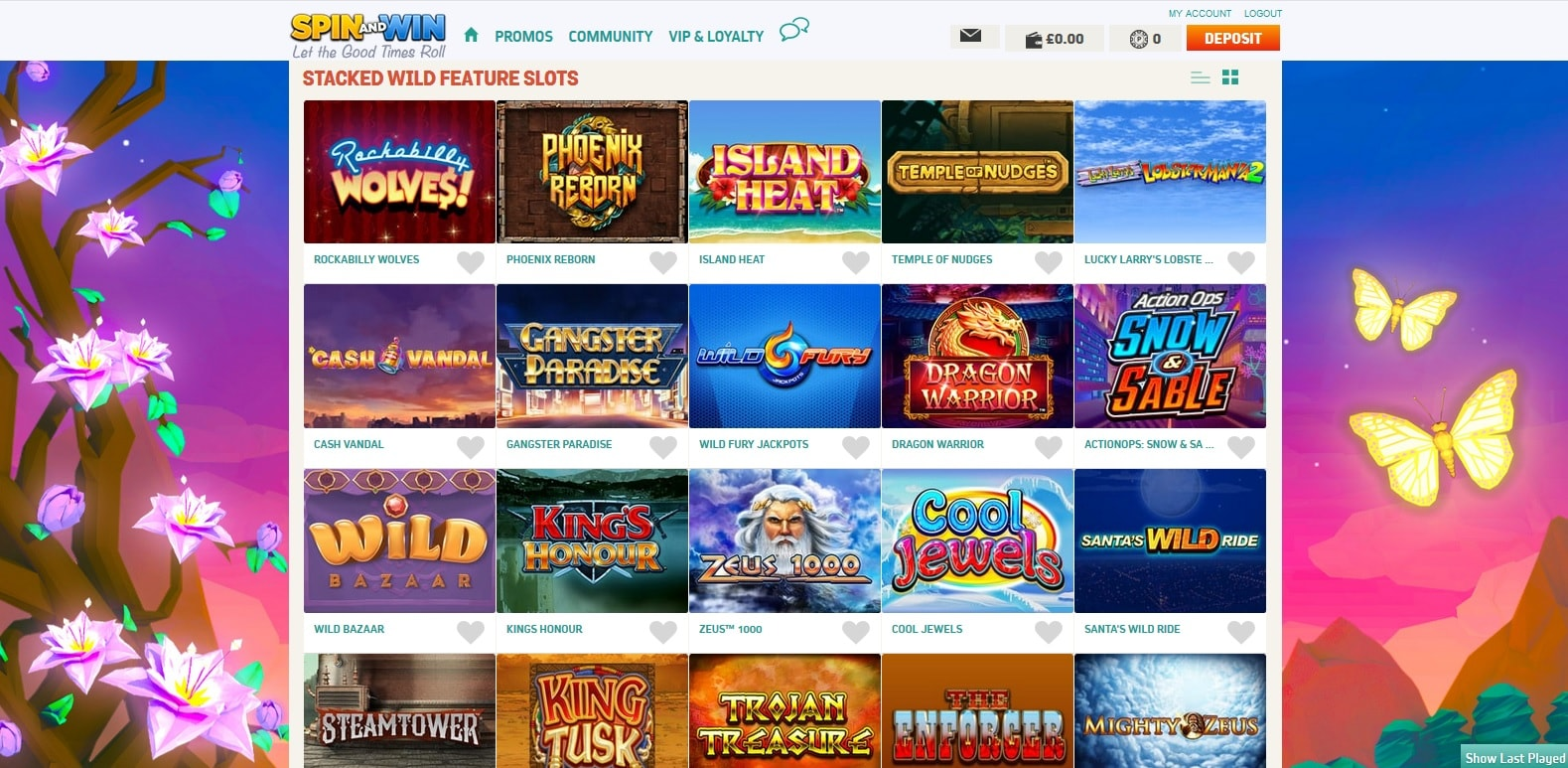 spin and win casino stacked wilds slots