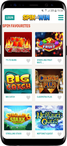 spin and win mobile casino games